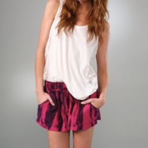 T-bags Misa tie dye cotton shorts S